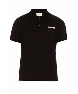 Gucci | Snake-Crest Cotton-Blend Polo Shirt