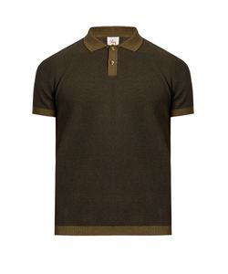 ORLEY | Two-Tone Micro-Stitched Cotton Polo Shirt