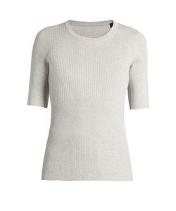 ATM | Engineered Ribbed-Knit Top