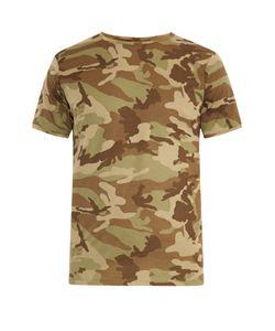 THE WHITE BRIEFS | Camo-Print Cotton T-Shirt