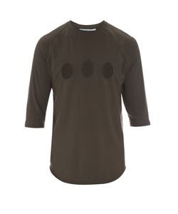BY WALID | Embroidered Cotton Baseball T-Shirt