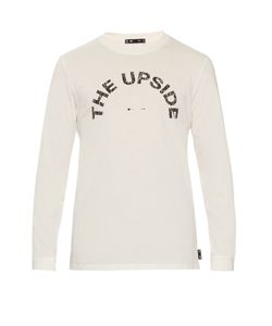 THE UPSIDE | Crackle-Print Long-Sleeved T-Shirt