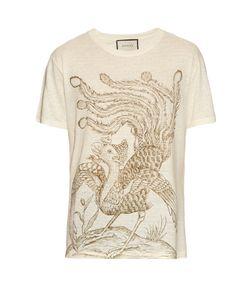 Gucci | Paradise Bird-Print Linen T-Shirt