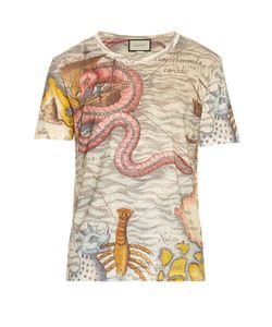 Gucci | Sea Map-Print Linen T-Shirt