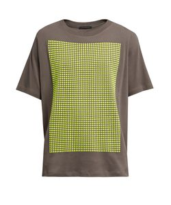Christopher Kane | Stud-Embellished Cotton-Jersey T-Shirt
