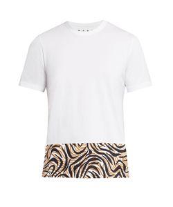 Marni | Animal-Printed Panel Cotton T-Shirt