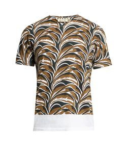 Marni | Abstract Leaf-Print Round-Neck T-Shirt