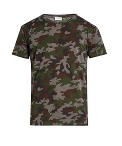 Saint Laurent | Camouflage-Print Cotton-Jersey T-Shirt