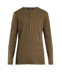 HELBERS | Long-Sleeved Cotton-Jersey Henley Top