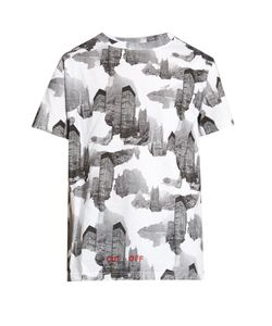 OFF-WHITE | Architectural Camouflage-Print Cotton T-Shirt