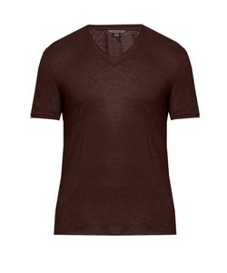 John Varvatos | V-Neck Linen T-Shirt