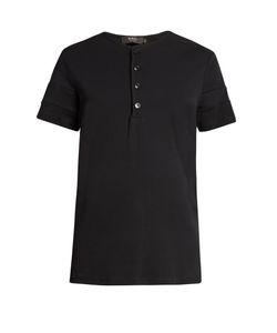 HELBERS | Short-Sleeved Cotton-Jersey Henley T-Shirt