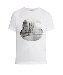 Moncler | Glacier-Print Crew-Neck Cotton T-Shirt