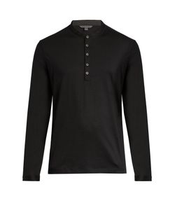 John Varvatos | Long-Sleeved Wool Henley Top