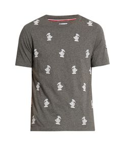 Moncler Gamme Bleu | Duck-Embroidered Crew-Neck Cotton T-Shirt