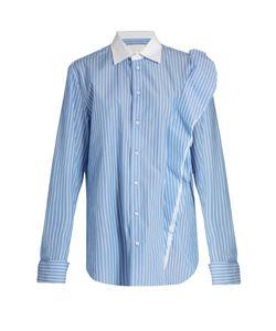 Maison Margiela | Oversized Striped Cotton-Poplin Shirt