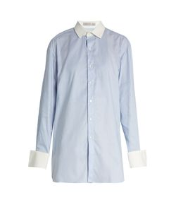 PALMER/HARDING | Long-Sleeved Pinstriped Cotton Shirt