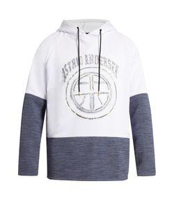 Astrid Andersen   Logo Cotton-Blend Jersey Hooded Sweatshirt