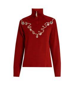 WALES BONNER | Karim Embellished Wool-Blend Top