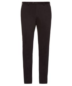 Brioni | Montana Slim-Leg Cotton-Blend Chino Trousers