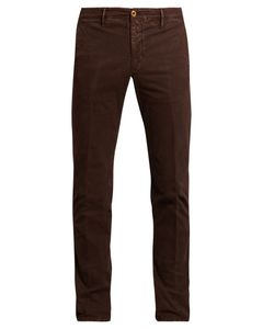 Incotex | Slim-Leg Micro-Weave Cotton-Blend Chino Trousers
