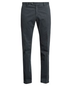 J.W. Brine | James Geometric-Print Slim-Leg Chino Trousers