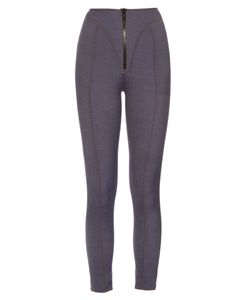 Lisa Marie Fernandez | Yoke Zip-Front High-Waisted Leggings