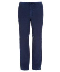 120% Lino | Drawstring Straight-Leg Linen Trousers