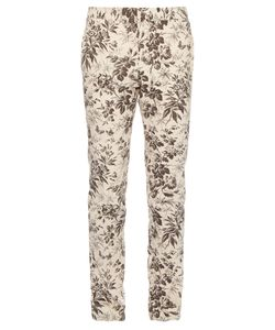 Gucci | Herbarium-Print Cotton-Gabardine Trousers