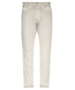 120% Lino | Five-Pocket Straight-Leg Linen Trousers