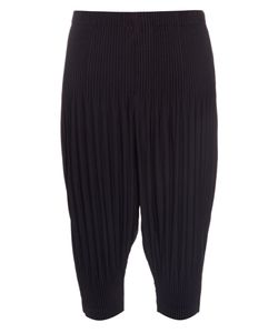HOMME PLISSE ISSEY MIYAKE | Dropped-Crotch Pleated Cropped Trousers