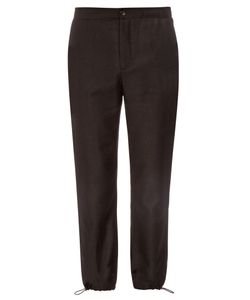 Acne | Pace Drawstring-Cuff Flannel-Wool Trousers