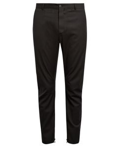 Lanvin | Pinstriped Biker Trousers