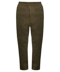 BY WALID | David Antique Linen Trousers