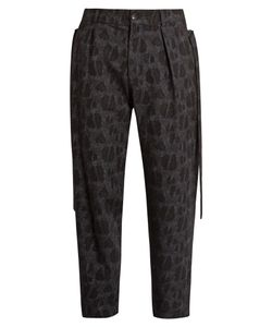 Damir Doma | Picasso Wool And Cotton-Blend Jacquard Trousers