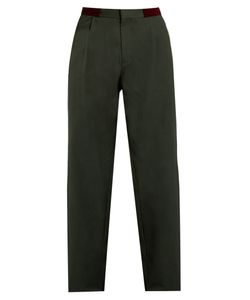 Kolor | Pleat-Front Straight-Leg Cotton Trousers