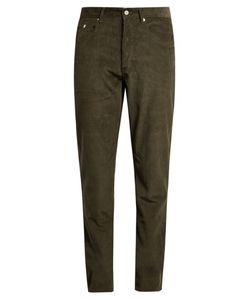 Maison Kitsune | Slim-Fit Cotton-Corduroy Trousers