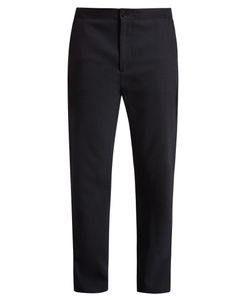Acne | Pace Drawstring-Hem Straight-Leg Wool Trousers