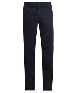 J.W. Brine | James Slim-Leg Stretch-Cotton Jacquard Trousers