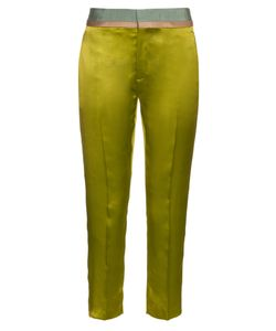 Haider Ackermann | Iteso Contrasting-Waist Silk Cropped Trousers