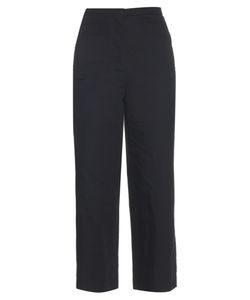 LEMAIRE | High-Waisted Cotton And Linen-Blend Trousers