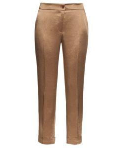 Etro | High-Rise Cigarette-Leg Satin Trousers