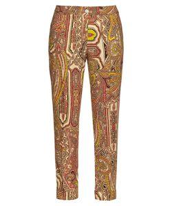 Etro | Decorative-Print Wool Cigarette Trousers