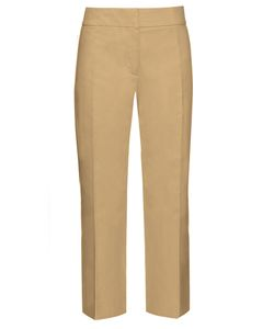 Marni | Mid-Rise Cropped Cotton Chino Trousers