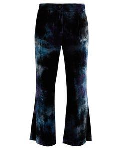 Raquel Allegra | Tie-Dye Flared Velvet Trousers