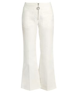 Edun | Mid-Rise Flared Cropped Jeans