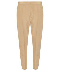 Jil Sander   Attila Tussa Silk-Poplin Cropped Trousers