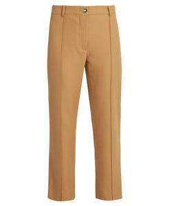 SIES MARJAN   Flared-Leg Wool-Twill Cropped Trousers