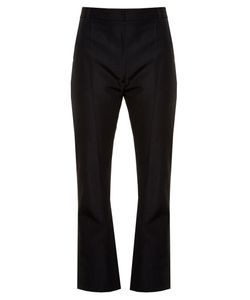 VETEMENTS | High-Rise Kick-Flare Cropped Twill Trousers