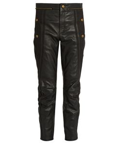 Chloe | Cropped Leather Trousers